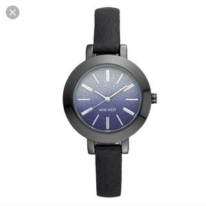 Nine West blue metal Braelynn Strap watch